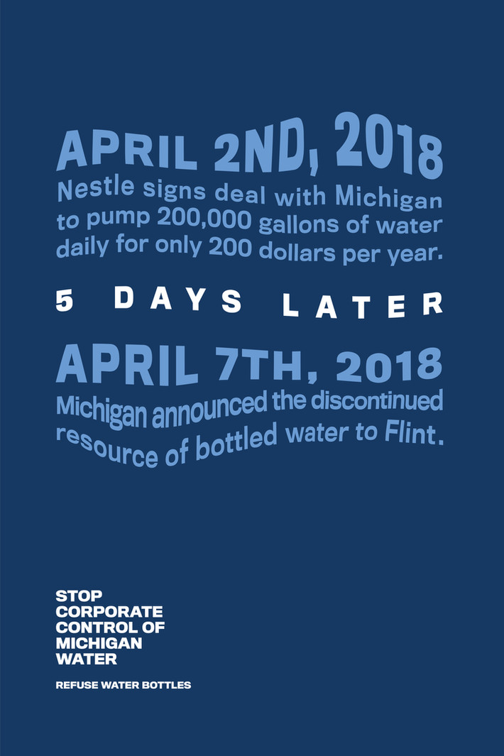 Water Bottle Poster: Text Focused