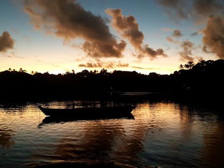 Pôr do sol em Caraíva