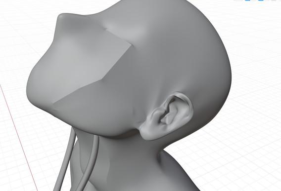 Ear detail on Sculpture