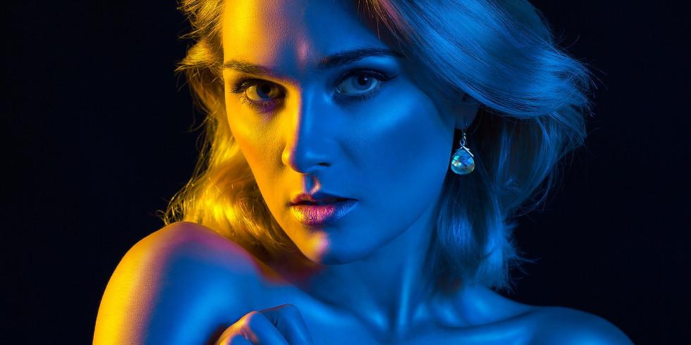 Colored Gels Lighting Workshop - Featuring model Tish Tash