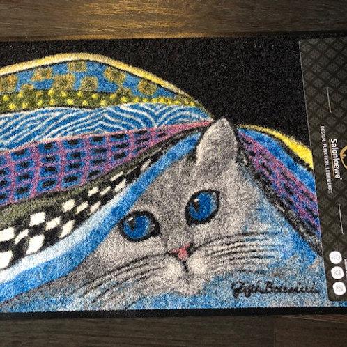 Tapis Chat sous tapis
