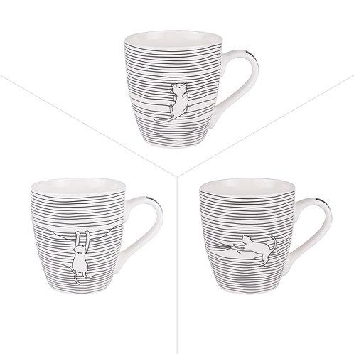 Mug Filo Cat 25cl - Trois Modèles