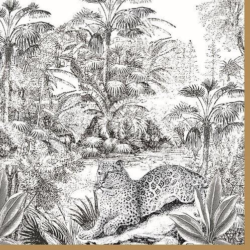 20 Serviettes papier 33x33cm Retro Jungle
