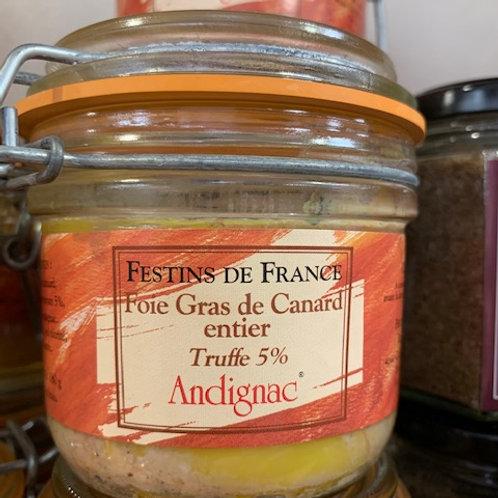 Conserve Foie Gras 180 gr Truffé 5%