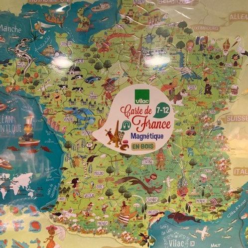 Carte des Merveilles de France