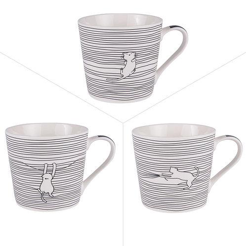 Mug Filo Cat 40cl - Trois Modèles