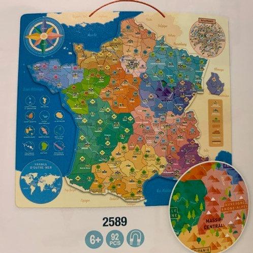 Puzzle carte de france éducative