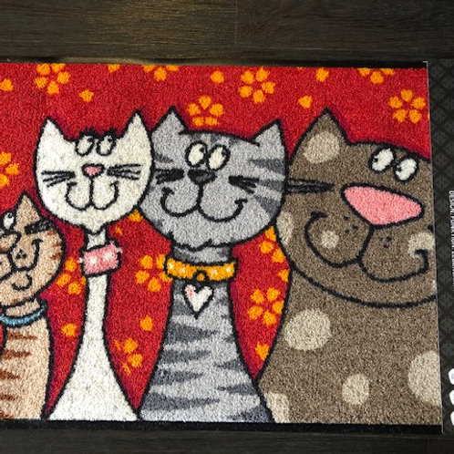 Tapis chats en famille