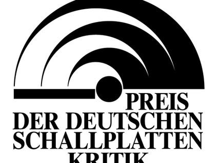 'Preis der deutschen Schallplattenkritik' for Cédric's Brahms CD