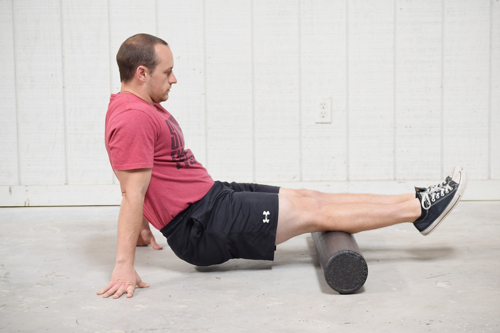 Foam rolling to relieve calf pain