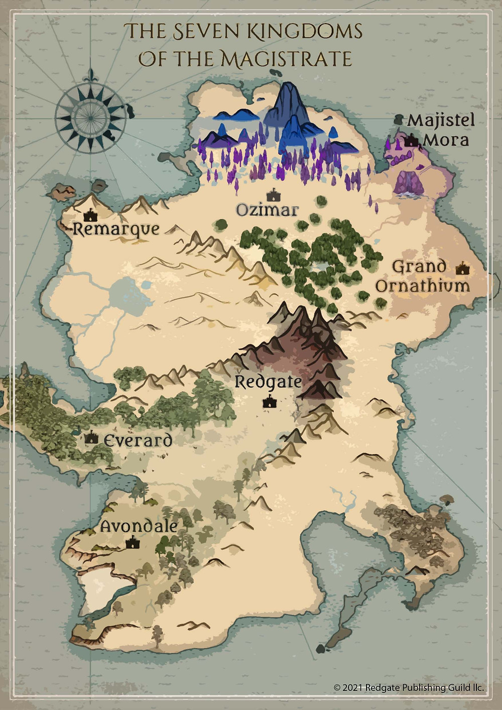 Map of the Seven Kingdoms of the Magistrate