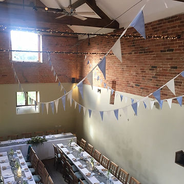 Bunting along the lines in the Catesby B