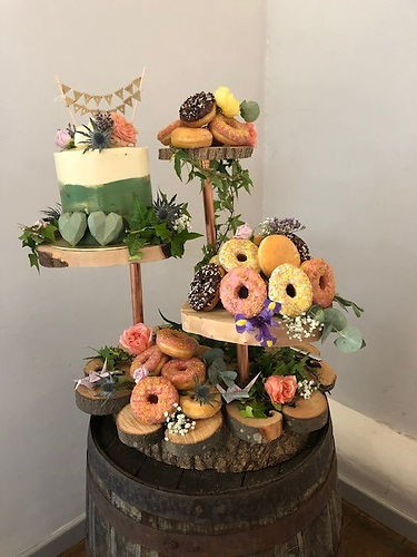 wooden cupcake stand and barrel.jpg