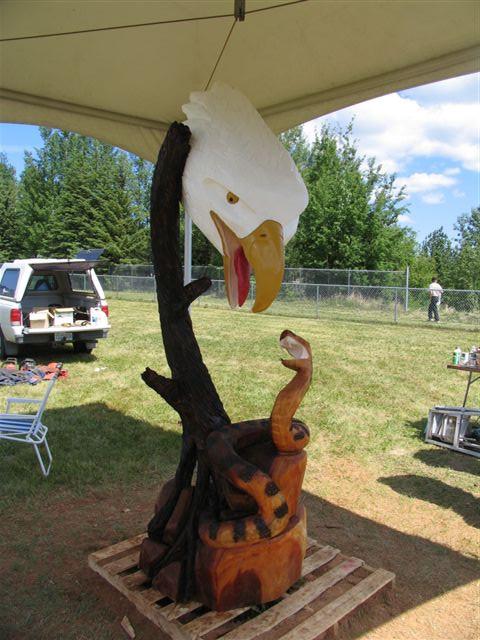 Ian Mackenzie Eagle head 2006.jpg