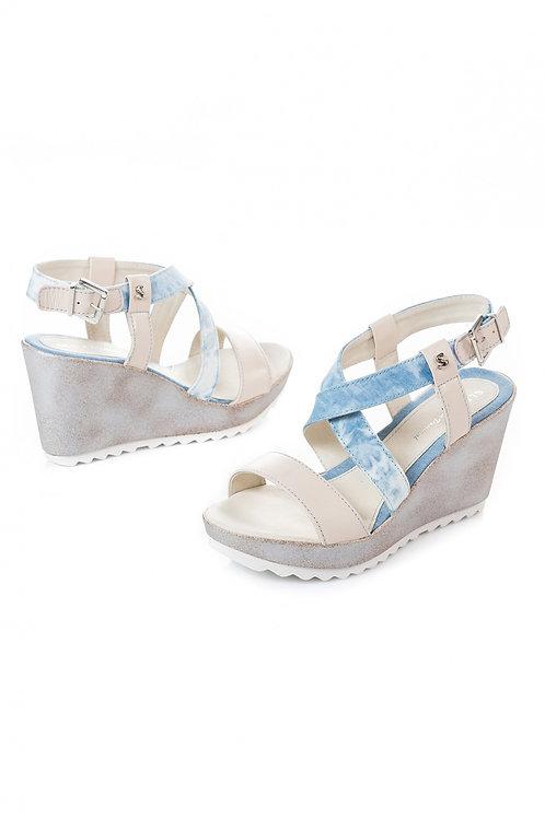 Sandales compensées doublées Salsa