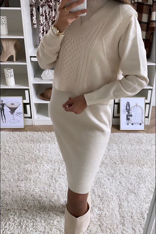 Ensemble robe + pull