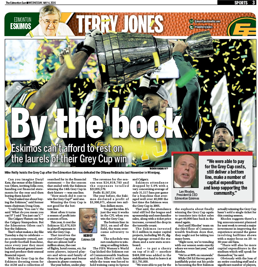 Edmonton Sun — Wednesday, May 4