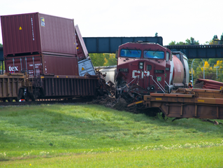 Calgary train collision second in a month for Canadian Pacific