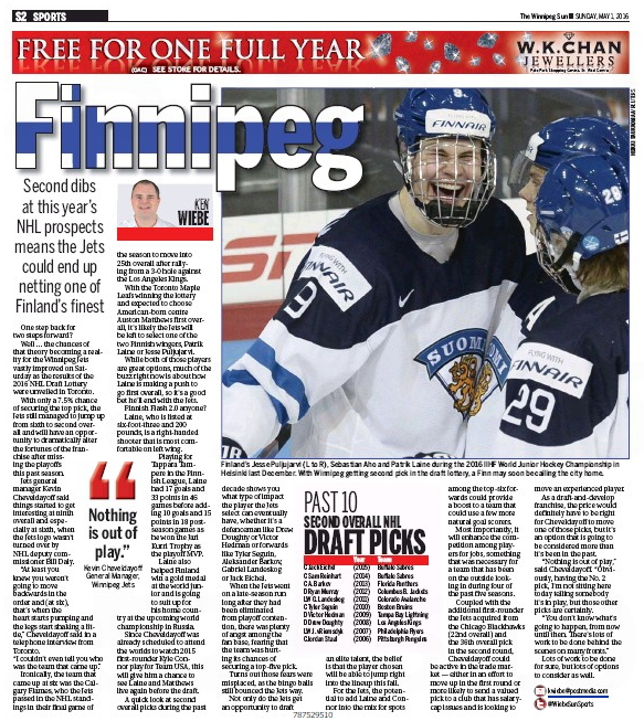 Winnipeg Sun — Sunday, May 1