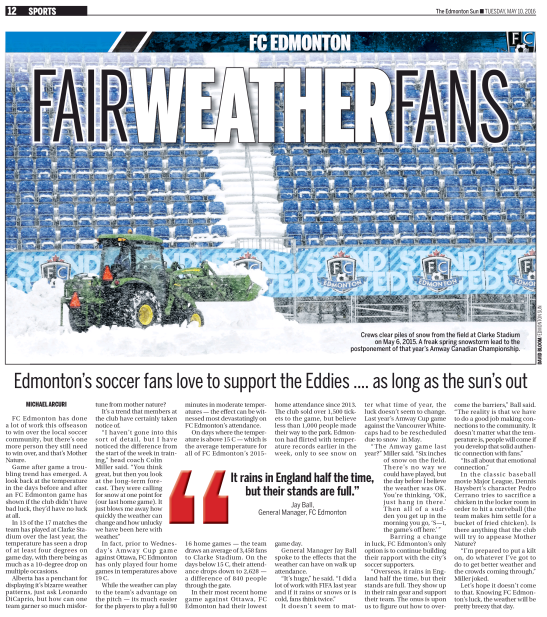 Edmonton Sun - Tuesday, May 10 2016