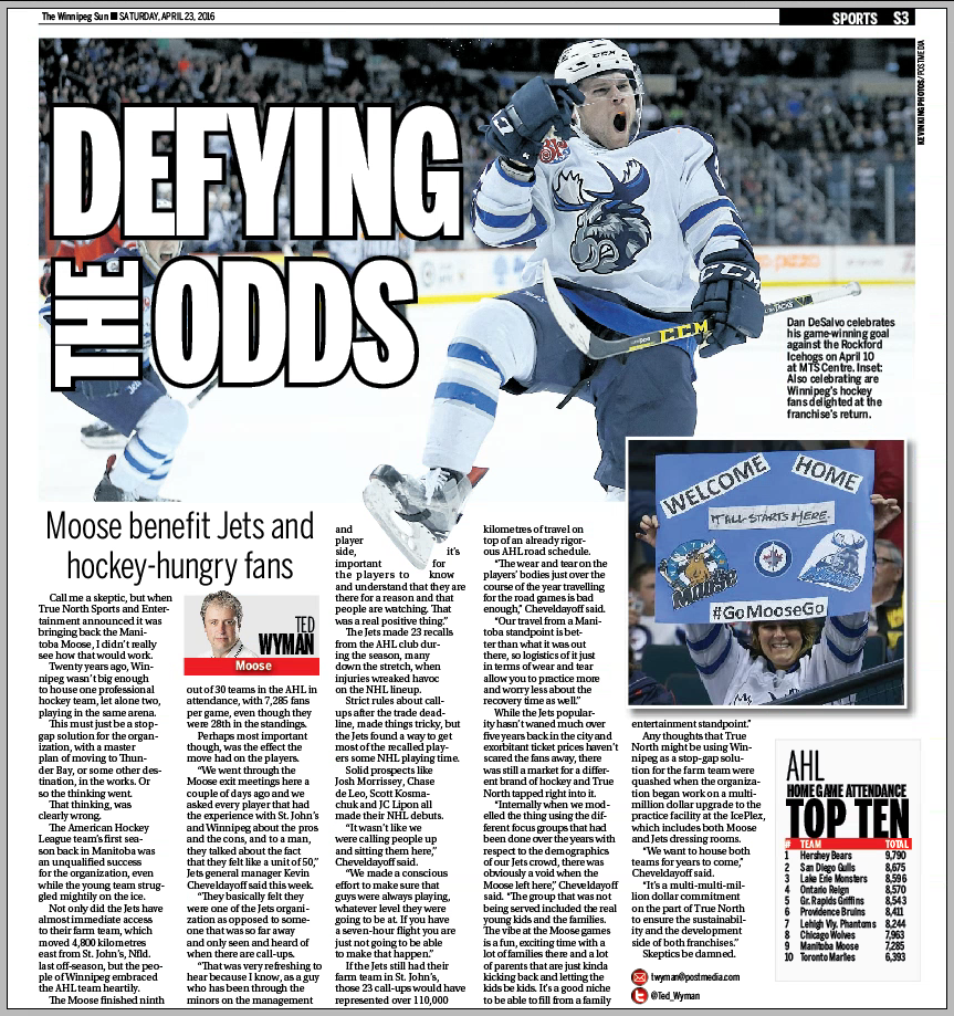 Winnipeg Sun — Tuesday, April 26