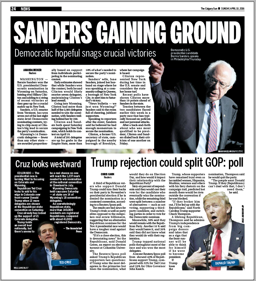 Calgary Sun — Sunday, April 10