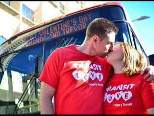 A Calgary Transit love story — 10 years together after a chance encounter and still rolling strong