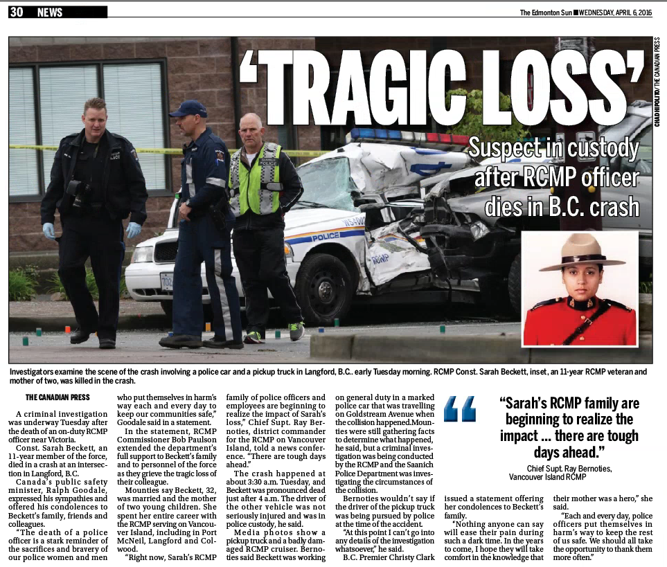 Edmonton Sun — Wednesday, April 6