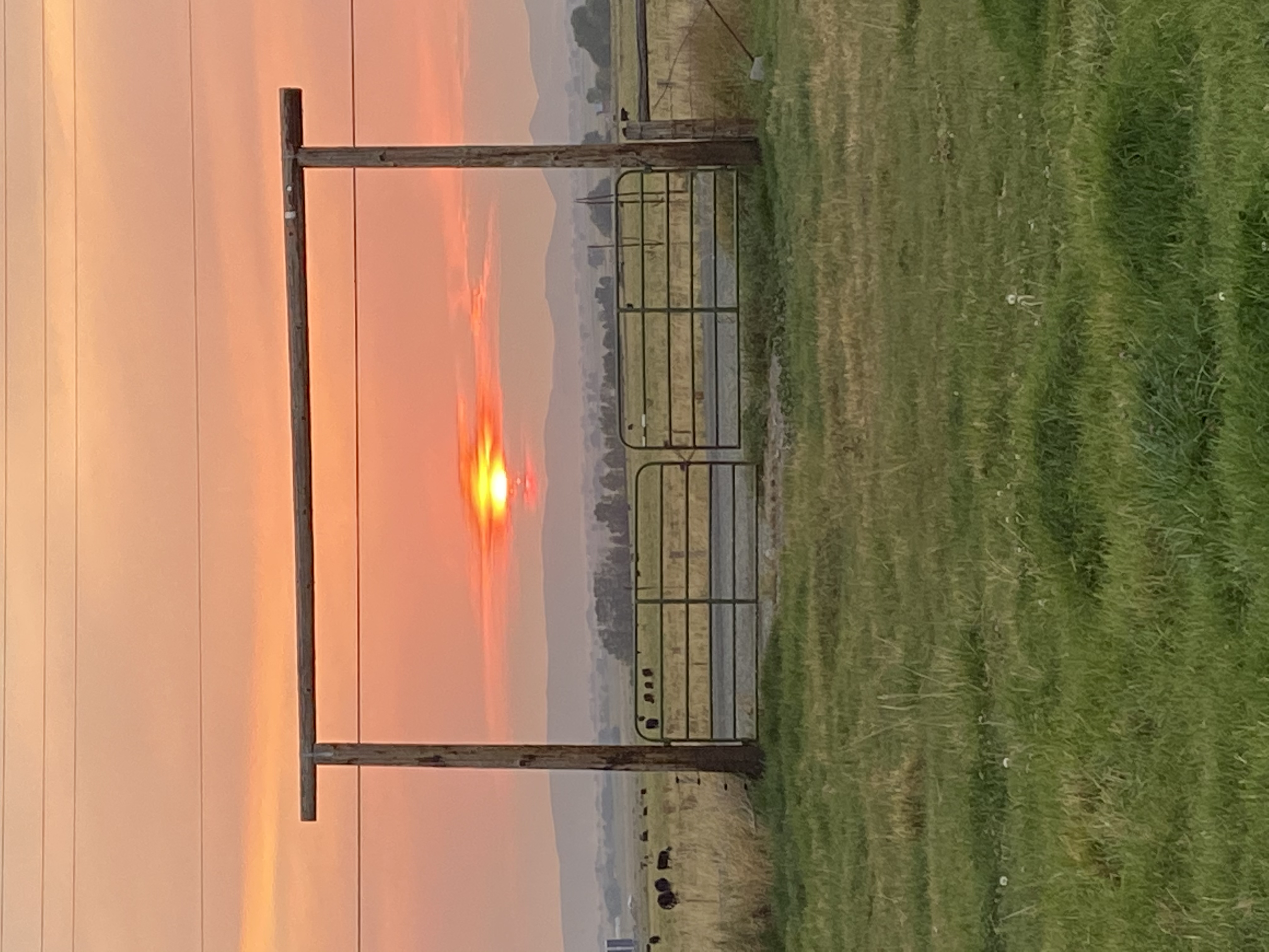SMOKEY SUNRISE IN THE BAKER VALLEY