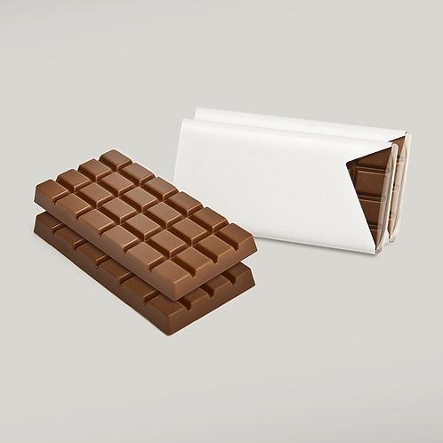 Schokoladentäfelchen in Vollmilch und Zartbitter 50er Pack zum Selbstgestalten