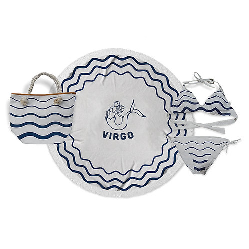 Horoscope set: Round beach towel+bag+bikini