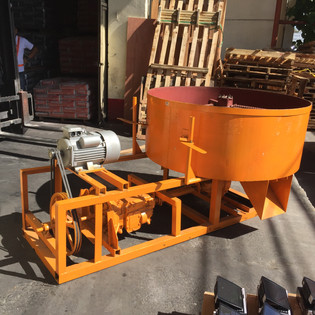 The clay mixer, We will be adapting this mixer used to mix cement to make concrete block to mix the clay for the filters. It has the potential to mix clay for 30 filters at one time.