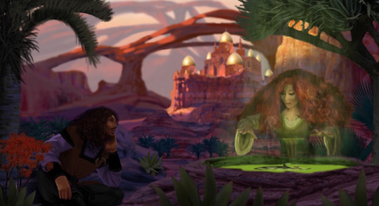Mila and Varlahm in the Desert