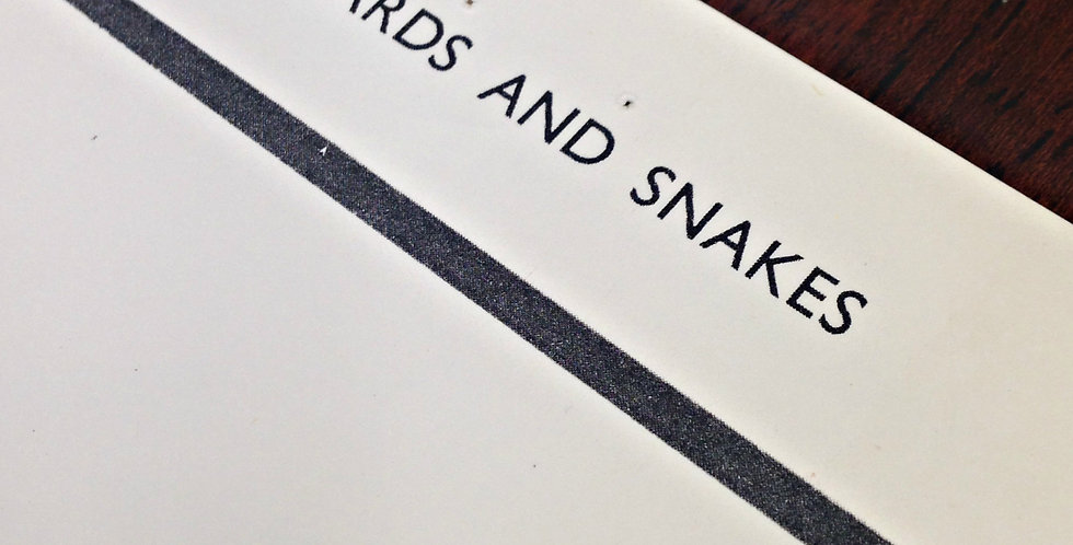 Lizards and snakes wall chart