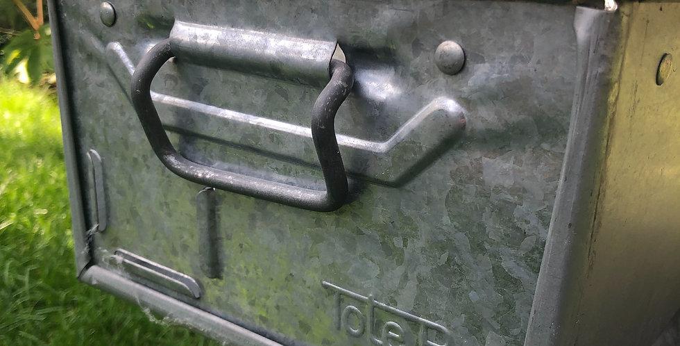 Galvanised steel tote pan storage