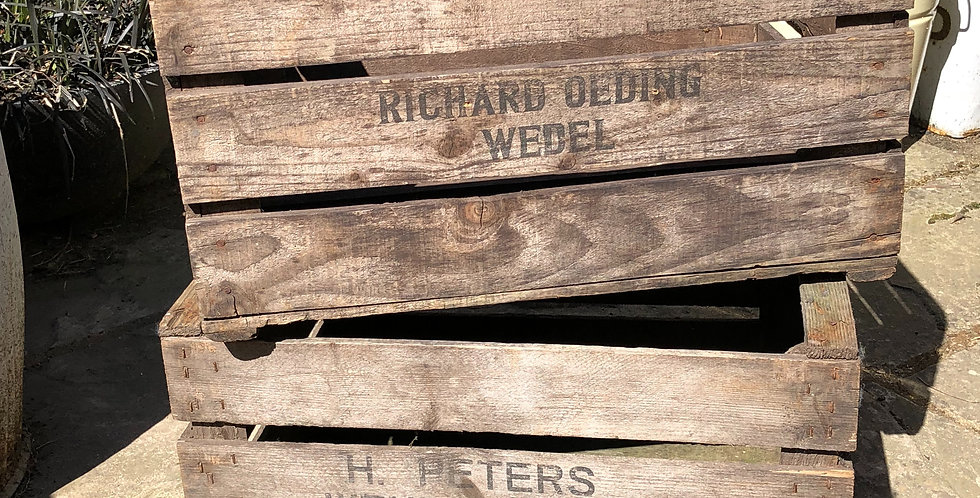 Wooden nursery crates