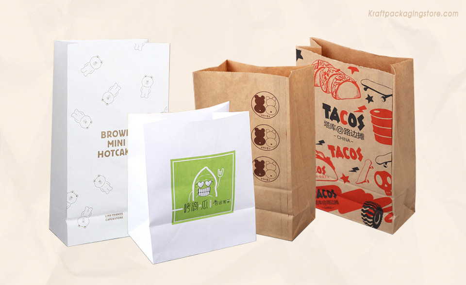 Customizing kraft grocery bags wholesale