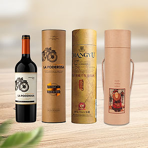 Custom wine packaging tube boxes
