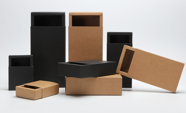 Kraft slide box in various sizes and two colors