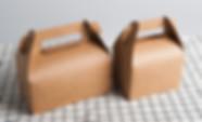 2 sizes option of kraft gable boxes wholesale