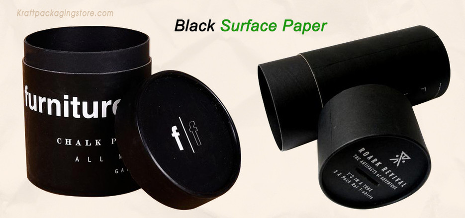 Black cardboard tubes packaging boxes