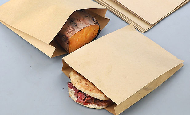 small brown kraft paper bags for snacks food packing