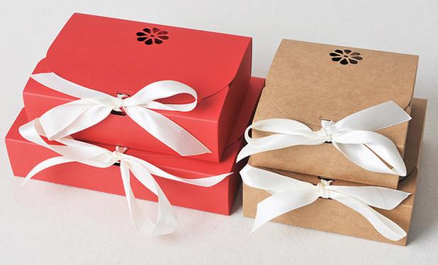 Ribbon closure party favor boxes wholesale