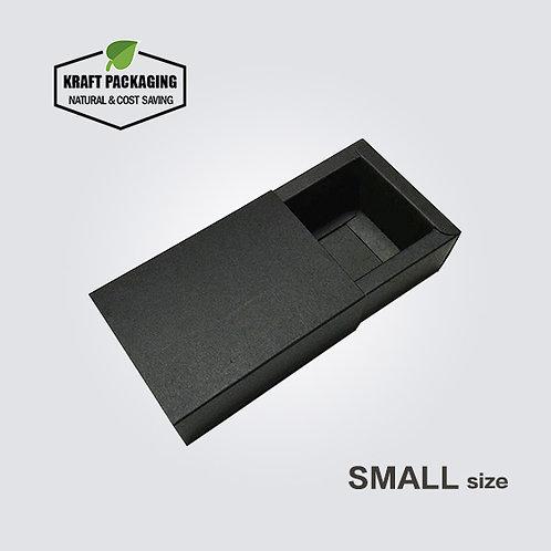 Small Black Kraft Paper Slide Drawer Box Packaging