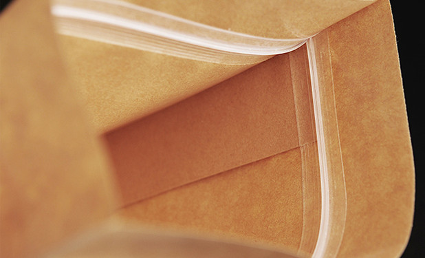 eight side stand kraft paper pouch with quality zipper