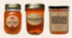 Kraft stickers for honey jar labels