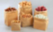 Kraft paper groceries bags wholesale