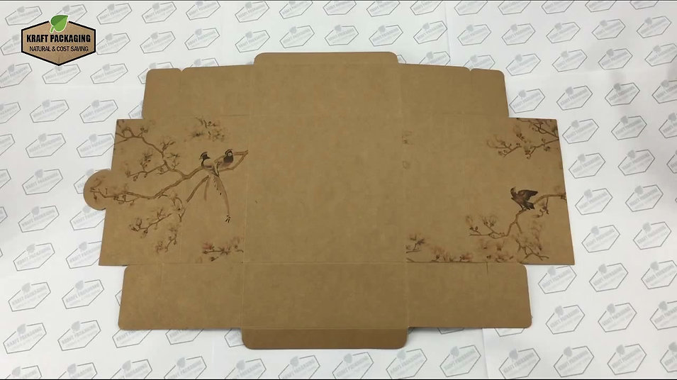 Learn how to fold printed Kraft paper gift box