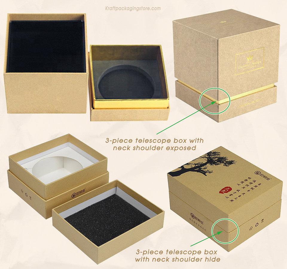2 types of custom rigid shoulder neck gift boxes