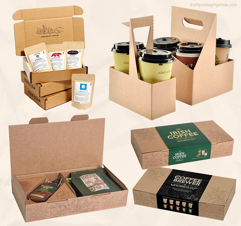 Kraft coffee boxes